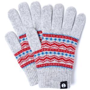 スマホ手袋 アイタッチグローブ Sサイズ 2019-2020新作 スマホ対応手袋 iTouch Gloves レディースサイズ チロル ライトグレー|back