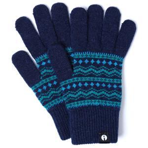 スマホ手袋 アイタッチグローブ Lサイズ 2019-2020新作 スマホ対応手袋 iTouch Gloves メンズサイズ チロル ターコイズ|back