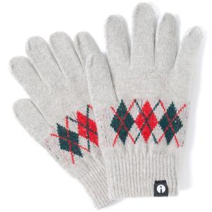 スマホ手袋 アイタッチグローブ Sサイズ 2019-2020新作 スマホ対応手袋 iTouch Gloves レディースサイズ アーガイル ライトグレー|back