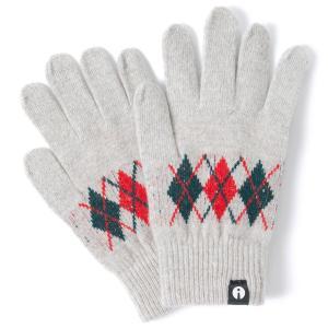 スマホ手袋 アイタッチグローブ Lサイズ 2019-2020新作 スマホ対応手袋 iTouch Gloves メンズサイズ アーガイル ライトグレー|back