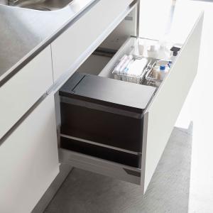 ゴミ箱 YAMAZAKI TOWER シンク下蓋付きゴミ箱 ダストボックス ごみ箱 山崎実業 タワー ブラック back