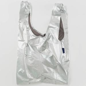【お1人様1点限り】エコバッグ バグゥ STANDARD BAGGU メタリック 2021春新作 折りたたみ ショッピングバッグ BAGGU スタンダードバグゥ シルバー|back