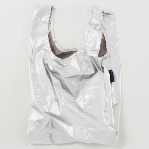 【お1人様1点限り】エコバッグ バグゥ BABY BAGGU メタリック 2021春新作 折りたたみ ショッピングバッグ BAGGU ベビーバグゥ シルバー|back