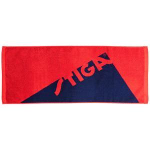 スポーツタオル STIGA タオル エッジ フェイスタオル スティガ TOWEL EDGE レッド/ネイビー|back