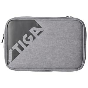 卓球ラケットケース STIGA ダブルラケットケース エッジ 卓球用品 スティガ BATWALLET DOUBLE EDGE グレー|back
