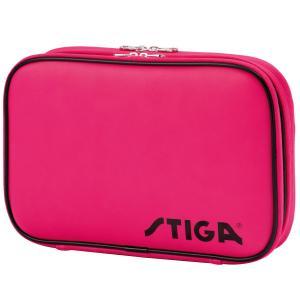 卓球ラケットケース STIGA クラシックダブルラケットケース 日本限定バージョン 卓球用品 スティガ BATWALLET DOUBLE CLASSIC ピンク|back