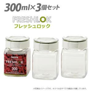保存容器 3個セット  タケヤ TAKEYA  フレッシュロック FRESHLOK 角形 300ml...