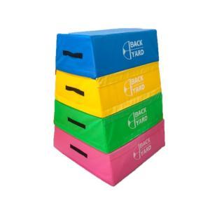 ソフト跳び箱 大 4段 EVA スポンジ 体操器具 ソフト器具 安全 痛くない ケガ防止 子供用 体操教室 幼稚園 保育園 高さ120cm 重さ32kg バックヤード