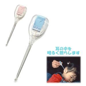 耳かき 子供用 スマイルキッズ SMILE KIDS 耳掃除 あかりちゃん ライト LED 白いライト 明るい 見やすい LEDライト付き耳かき 光る耳かき|backyard