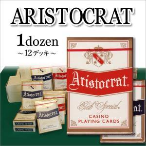 トランプ カジノ ARISTCRATS (アリストクラット) レッド / ブルー まとめ買い 1ダース|badenbaden