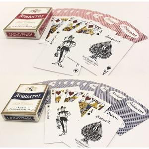 トランプ カジノ ARISTCRATS (アリストクラット) レッド / ブルー まとめ買い 1ダース|badenbaden|02