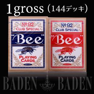 Bee ビー ポーカーサイズ レッド / ブルー まとめ買い 1グロス -カジノトランプ|badenbaden