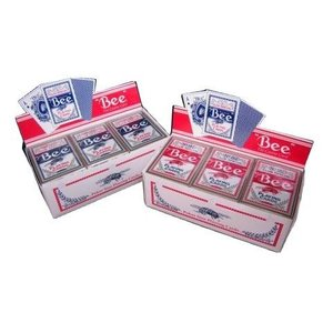 トランプ カジノ ビー Bee ビー ポーカーサイズ レッド / ブルー まとめ買い 1グロス badenbaden 04