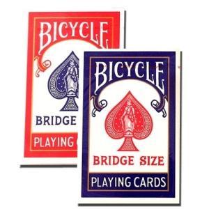 BICYCLE バイスクル ライダーバック  ブリッジサイズ  レッド ・ ブルー  -マジックトランプ 手品