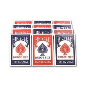 トランプ バイスクル マジック BICYCLE バイスクル ライダーバック ブリッジ 1ダース レッド6・ブルー6|badenbaden