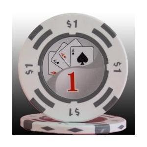 フォースポット ポーカーチップ( 1$ )1枚売り−カジノ、ポーカー用|badenbaden