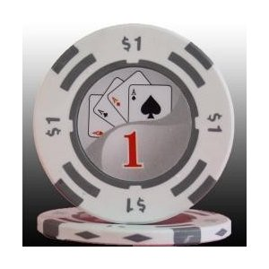 フォースポット ポーカーチップ 1$ 20枚セット カジノ、ポーカー用|badenbaden