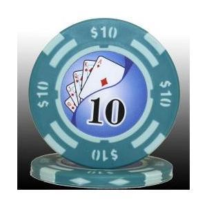 フォースポット ポーカーチップ( 10 $)1枚売り - カジノ、ポーカー用|badenbaden