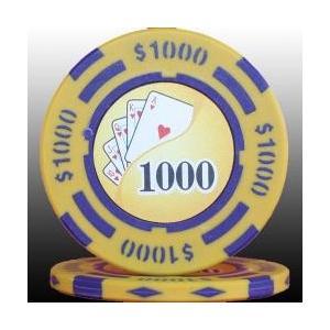 フォースポット ポーカーチップ(1,000$)   -カジノ、ポーカー用|badenbaden