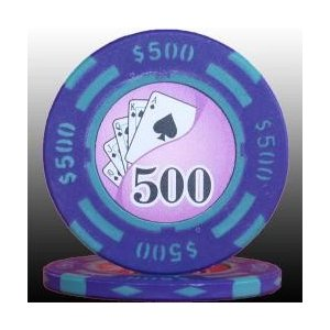 フォースポット ポーカーチップ (500$) - カジノ・ポーカー用
