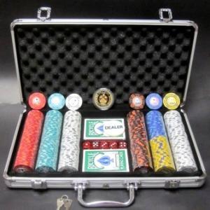フォースポット・ポーカーセット300 -シルバーケース・チップセット|badenbaden