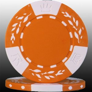 クレイ高純度カジノチップ(オレンジ) 10枚セット|badenbaden