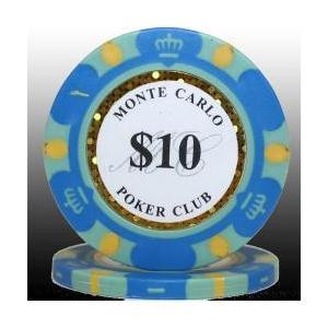 カジノ ポーカーチップ モンテカルロ ポーカーチップ(10)青 25枚セット badenbaden