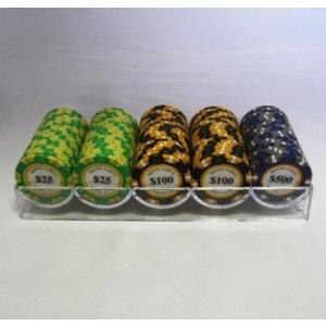 モンテカルロ・ポーカーチップ100枚セット -ポーカーシットアンドゴー仕様|badenbaden