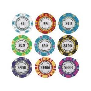 カジノチップ ポーカーチップ モンテカルロポーカーチップサンプル10枚セット|badenbaden