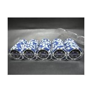 QuattroAssi クアトロアッシーポーカーチップ (10)青 100枚セット - カジノチップ...