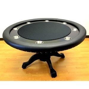 ROUND ラウンドポーカーテーブル2 -ブラック(蓋付)(ポーカー・マジック用)|badenbaden