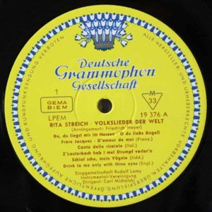 シュトライヒ/世界の民謡と子守歌   独DGG   2615 LP レコード|baerenplatte|02