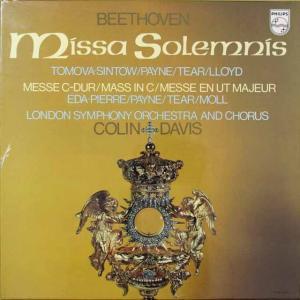 未開封:デイヴィスのベートーヴェン/ミサ・ソレムニス 蘭PHILIPS 2636 LP レコード