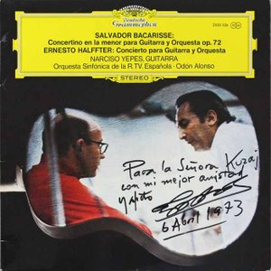イエペス&アロンソのバカリッセ/ギター協奏曲(サイン入り) 独DGG 2715 LP レコード