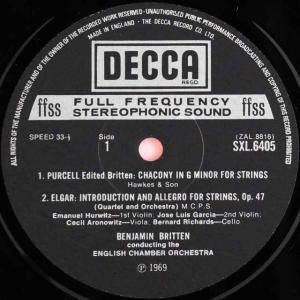 ブリテンのイギリス室内楽曲集 英DECCA 2...の詳細画像1