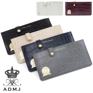 ADMJ エーディーエムジェイ / 長財布 レディース 薄型 本革 クロコ型押し acs06018|bag-danjo