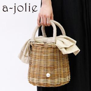 アジョリー a-jolie / かごバッグ レディース リボン パール si-1802|bag-danjo