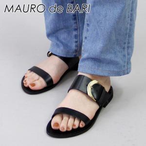 マウロデバーリ MAURO de BARI / サンダル フラット バックル ベルト 本革 レディース 926|bag-danjo