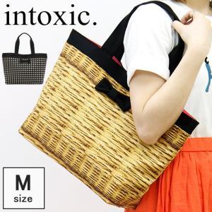 intoxic. イントキシック / トートバッグ レディース キャンバス かごバッグ風 リボン basic tote A4 横入れ 軽量 hd-023|bag-danjo