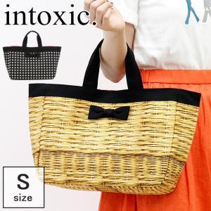 intoxic. イントキシック / トートバッグ レディース キャンバス かごバッグ風 リボン town mini A4 横入れ 軽量 hd-024|bag-danjo