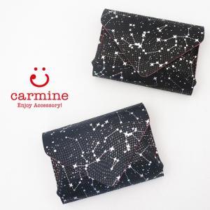 カーマイン carmine コンパクト財布 ミニウォレット 星座 レザー レディース cws|bag-danjo