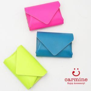 カーマイン carmine コンパクト財布 ミニウォレット ビビット レザー レディース cmw|bag-danjo