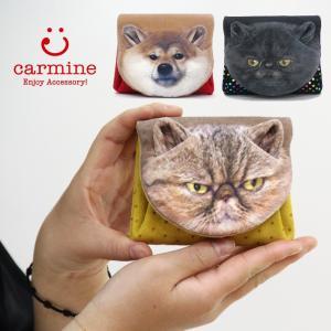 カーマイン carmine / 折り財布 猫 アニマルフェイス レディース mwaf|bag-danjo