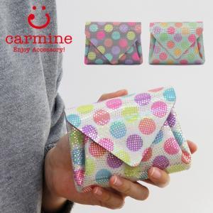 カーマイン carmine / コンパクト財布 ミニウォレット ドット レザー パレット mwpl bag-danjo