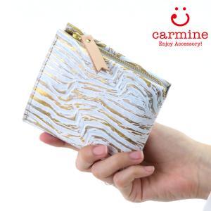 カーマイン 財布 carmine 折り財布 コンパクト ミニウォレット レザー ワンウォレット メタルファントム One Wallet Metal Phantom onept|bag-danjo