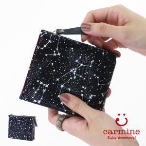 カーマイン 財布 carmine 折り財布 コンパクト ミニウォレット レザー 星座 ワンウォレット スターリー One Wallet Starry ones|bag-danjo