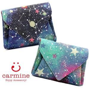 カーマイン carmine ミニ財布 折り財布 コンパクト 星座  スター ssmw fsmw|bag-danjo