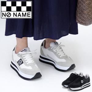 ノーネーム スニーカー 厚底 NO NAME flex jogger フレックス ジョガー black ブラック スエード ナイロン 軽量 レディース 91201|bag-danjo