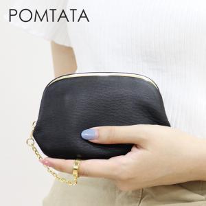 pomtata ポンタタ / コンパクト財布 がま口 ソフトレザー リングチャーム p1251|bag-danjo