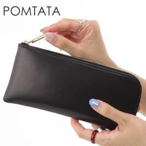 ポンタタ 財布 pomtata 長財布 L字ファスナー 本革 BLACK ブラック 黒 レディース p1574 PAR8 bag-danjo